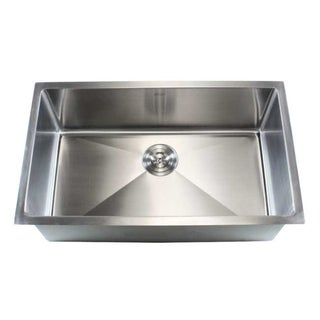 Single Basin Stainless Steel Sink : Stainless Steel Undermount Single Bowl 15mm Kitchen Sink
