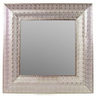 Urban Trends Collection Patterned Metal Mirror