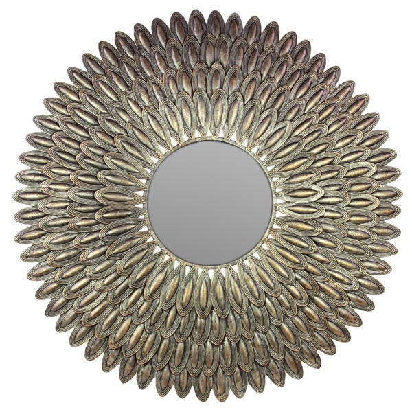 Urban Trends Collection Antique Gold Finish Metal Mirror. Opens flyout.