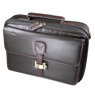 Castello Leather Zip Around Laptop Briefcase