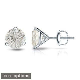 Auriya Platinum 1/4 Ct to 3/4 Ct TDW Martini Diamond Stud Earrings (J-K, I1-I2)