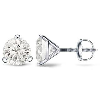 Auriya Platinum 1/4 Ct to 3/4 Ct TDW Martini Diamond Stud Earrings (H-I, SI1-SI2)