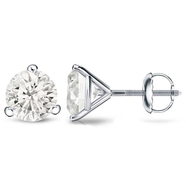 Auriya Platinum 1/4 Ct to 3/4 Ct TDW Martini Diamond Stud Earrings
