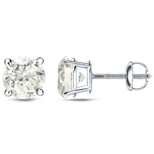 Auriya 18k White Gold 1/4ct to 3/4ct TDW Round Diamond Stud Earrings