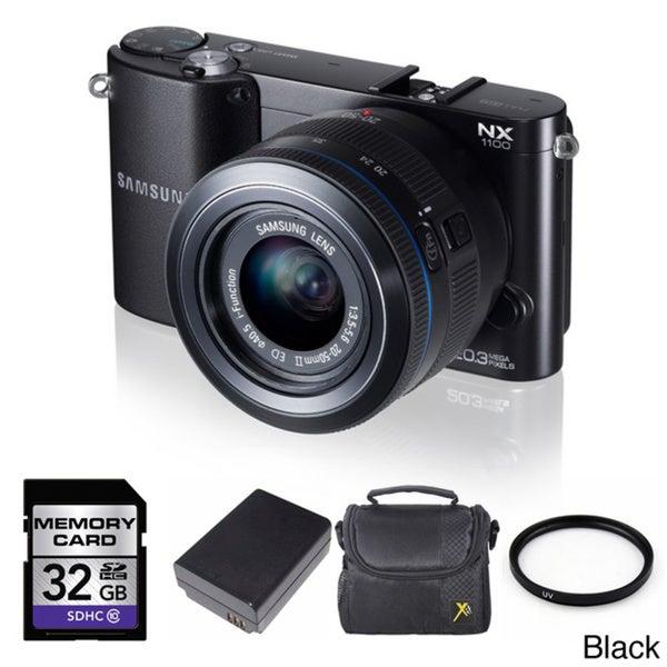 Samsung NX1100 Mirrorless Camera with 20-50mm Lens 32GB Bundle