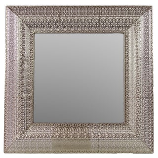 Urban Trends Collection Silver Metal Mirror