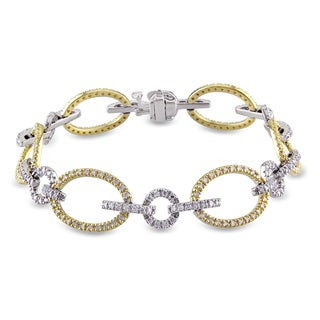 Miadora Signature Collection 14k Gold 1 4/5ct TDW Two Tone Diamond Bracelet