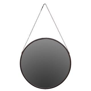 Urban Trends Collection Hanging Metal Mirror - Antique Black