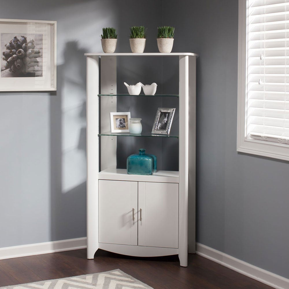 Aero Tall Library Storage Cabinet with Doors (Bush Aero 2...