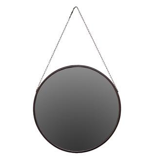 Metal Hanging Mirror - Antique Black - A/N