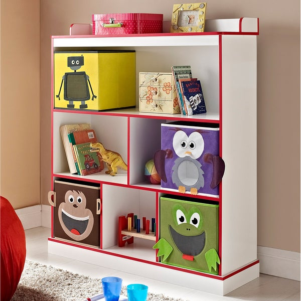 Childrens Kids 3 Tier Toy Bedroom Storage Shelf Unit 8: Shop Altra Kids 3-Shelf Bookcase With 4 Bins