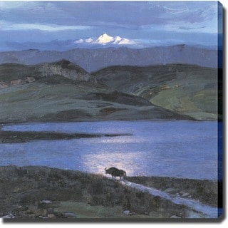 'Mountain and Lake' Canvas Print Art