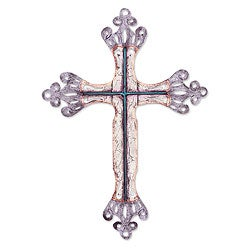 Handcrafted Steel 'Celestial Cross' Wall Art Sculpture , Handmade in Mexico