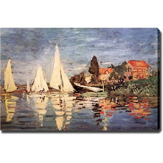 Claude Monet 'Boats at Argenteuil' Giclee Canvas Art