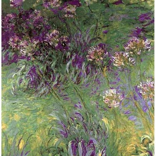 Claude Monet 'Little Purple Flower' Canvas Print Art