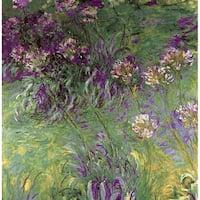 Claude Monet 'Little Purple Flower' Canvas Print Art - Multi
