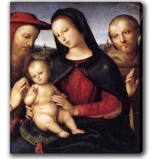 Raphael 'Virgin Mary and Son' Canvas Art