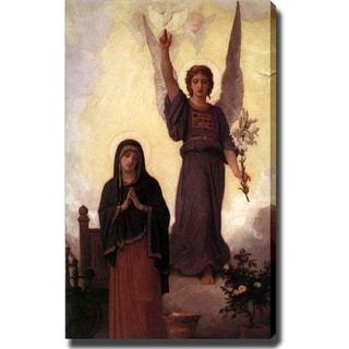 William-Adolphe Bouguereau 'The Annunciation' Canvas Art