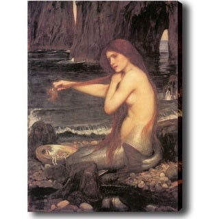 John William Waterhouse 'A Mermaid' Canvas Art