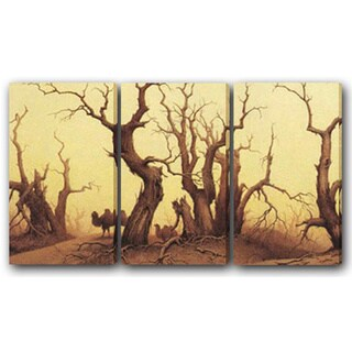 Camel and Tree' Canvas Print Art (Set of 3)