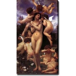 William-Adolphe Bouguereau 'Birth of Venus' Canvas Art - Multi