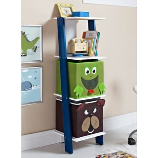 Altra Luci Ladder Bookcase with 2 Bins