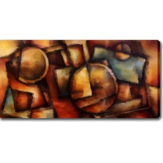 Modern Abstract 'Dark Colors' Canvas Art