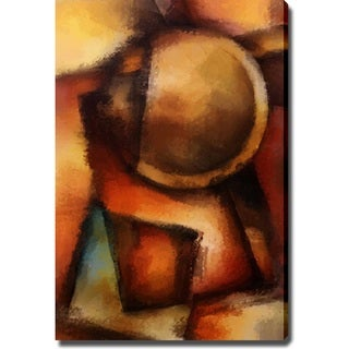 Abstract Modern 'Dark Colors' Canvas Art