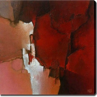 Abstract Modern 'Red' Canvas Art