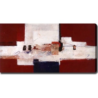 'Village' Abstract Giclee Canvas Art