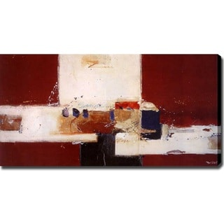 Abstract 'Village' Giclee Canvas Art
