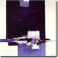 Abstract 'Purple, Black and White' Giclee Canvas Art - Multi