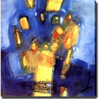 'Blue and Yellow' Abstract Giclee Canvas Art