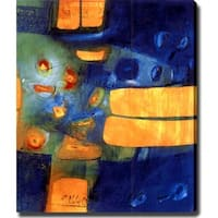 Abstract 'Blue and Yellow' Giclee Art - Multi