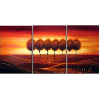 Abstract 'Lone Tree' Giclee Canvas Print Art