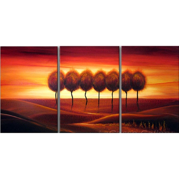 Abstract 'Lone Tree' Giclee Canvas Print Art - Multi