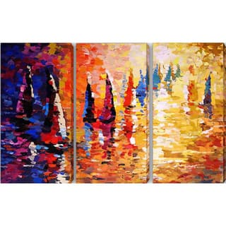 Abstract 'Boat' Giclee Canvas Print (Set of 3)|https://ak1.ostkcdn.com/images/products/8229455/8229455/Abstract-Boat-Giclee-Canvas-Print-Set-of-3-P15559118.jpg?impolicy=medium