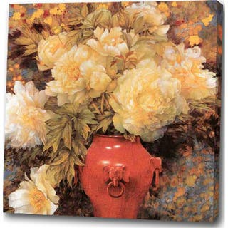 'Flowers in a Red Vase' Giclee Canvas Print Art