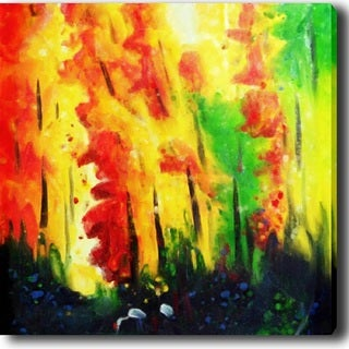 Abstract 'Forest' Giclee Canvas Art