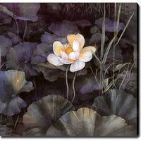 'Lotus' Giclee Canvas Art - Multi