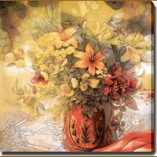 'Lilies in Vase, Still Life' Giclee Canvas Art