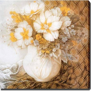 'White Flower' Giclee Canvas Art
