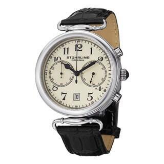 Stuhrling Original Men's Velocity Swiss Quartz Leather Strap Watch