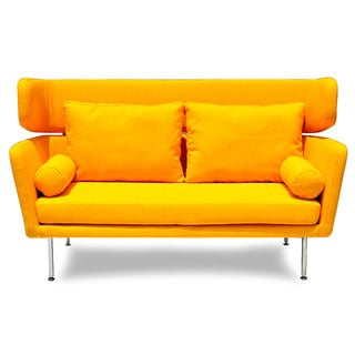 Winged Mid-century Sofa