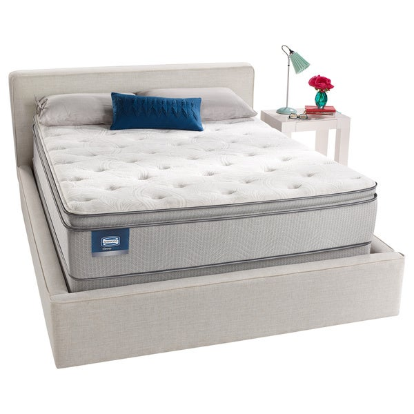 shop simmons beautysleep titus pillow top twin xl size mattress set free shipping today. Black Bedroom Furniture Sets. Home Design Ideas