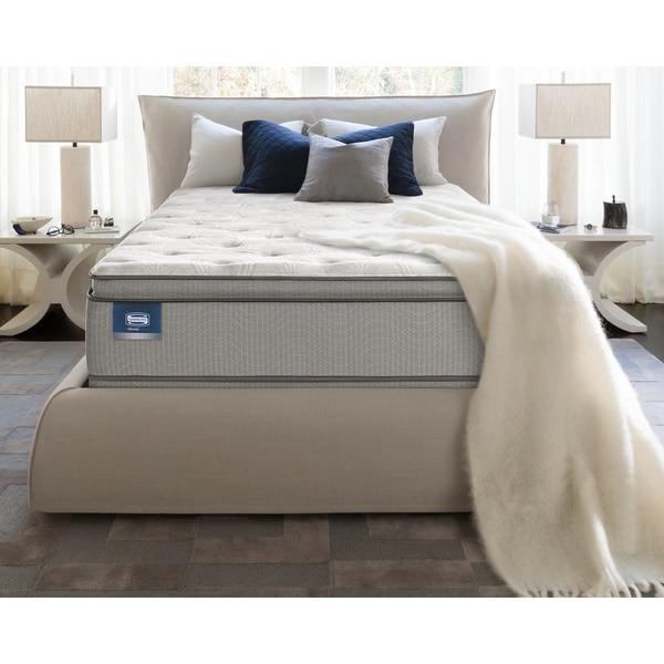 Shop Simmons Beautysleep Titus Pillow Top Queen Size Mattress Set Free Shipping Today
