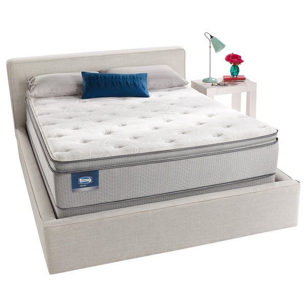 Simmons Beautysleep Titus Pillow Top Queen Size Mattress Set Free Shipping Today Overstock