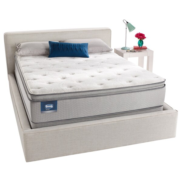 shop simmons beautysleep titus pillow top twin size mattress set free shipping today 8229554. Black Bedroom Furniture Sets. Home Design Ideas