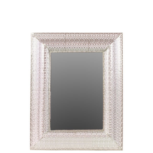 Shop Urban Trends Collection Metal Rectangle Mirror Free