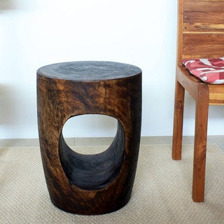 Mocha Grey Big Eye 20-Inch High End Table (Thailand)